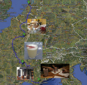 Foodish route door Frankrijk