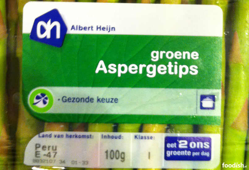 Groene aspergetips uit Peru