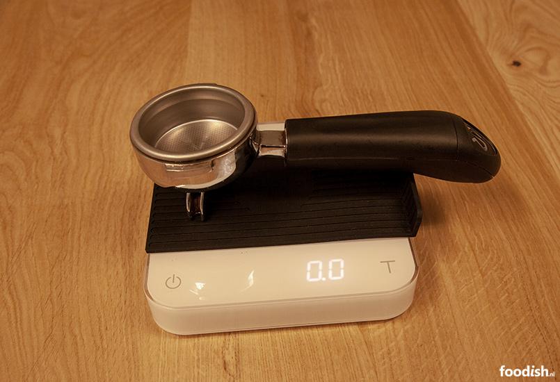 Gewicht filterhouder meten